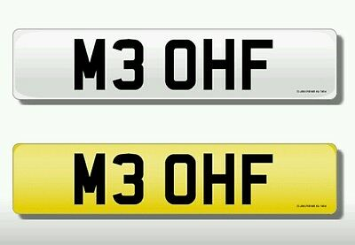 Personalised / Private registration - M3 OHF - Available for immediate transfer
