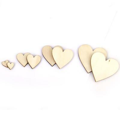100pcs Basswood Blank Peach Heart Scrapbooking for DIY Crafts 10-40mm