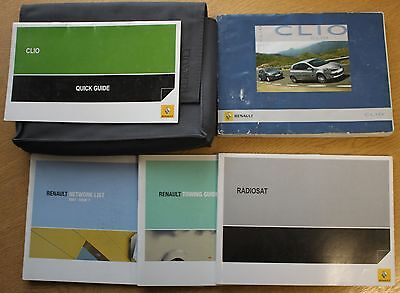 Renault Clio Iii 2005-2009 Owners Manual Handbook Wallet Pack 11684
