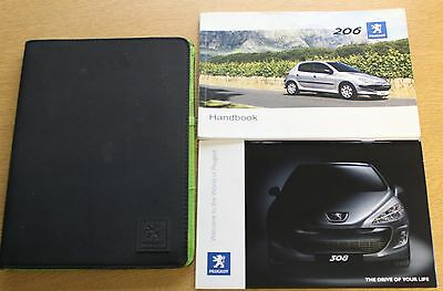 Peugeot 206 Owners Manual Handbook Wallet Wallet 2003-2009 Pack 7206