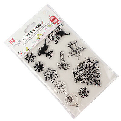 Seals Stamp DIY Card Transparent Clear Stamps Scrapbooking Merry Christmas