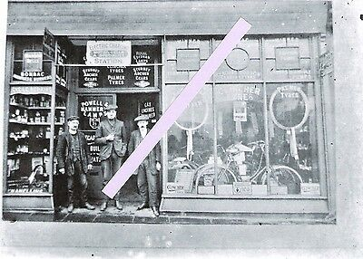 Photo glass plate, Lang & Webb cycle shop & coachbuilders, Holloway Tuffnel Pk 4