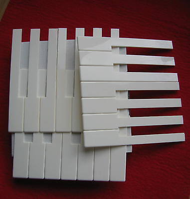 Piano Key Tops -  White - Full Set - An Accessory for Upright Pianos