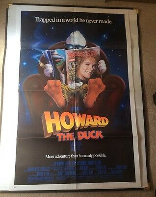 'Howard The Duck' Original Film Poster 1986 US One Sheet Folded George Lucas