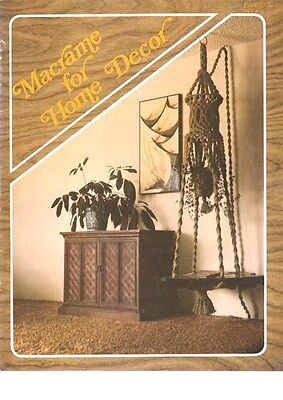 """Vintage 1978 Macrame Pattern Book""""macrame For Home Decor"""" There Are 13 Projects"""