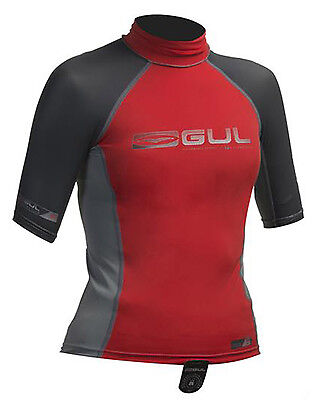 Gul Junior  Boys Rash Vest in Red - On Sale Now