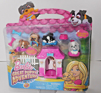 Barbie Great Puppy Adventure Puppy Playset with Charms, Puppies and Accessories