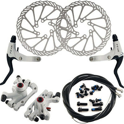 G3 Mechanical Bicycle Cycling MTB Bike Disc Brake Front Rear Caliper 160mm Rotor