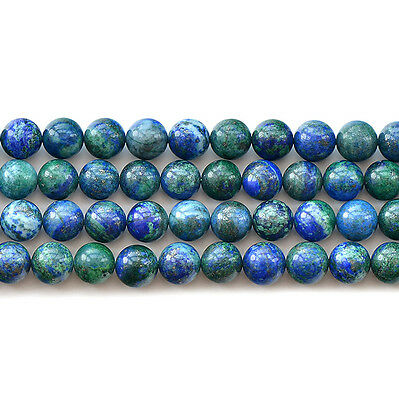 Natural Lapis Lazuli Chrysocolla Gemstone Round Beads 15'' 6mm 8mm 10mm 12mm