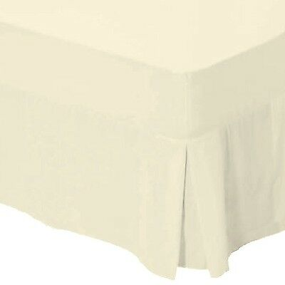 Catherine Lansfield Non Iron Percale Double Valance Sheet - Cream double bed