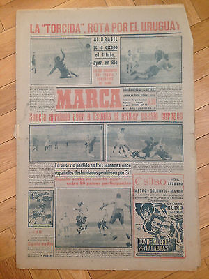Marca 17 July 1950 Brazil Uruguay World Cup 1950 Wc50 Maracanazo Sweden Spain