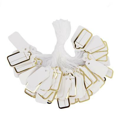 500Pcs Rustic String Label Jewelry Price Paper Gilding Tag Lable Hangings