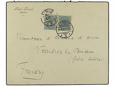 DENMARK. 1897 (Aug 30). Cover to Paris franked by 189