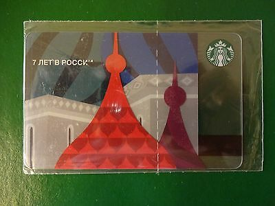 Russia, Starbucks Russian Card,2014,red Square,sealed.rare