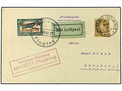 Germany. 1925 (3-V). Air Mail. Air Mail. Heilbronn