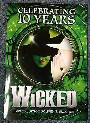 """Wicked the Musical """"Celebrating 10 years"""" Program. Limited edition."""