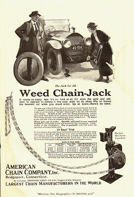 1920s vintage Ad, Weed Chain Tire Jack, American Chain Co. -083113