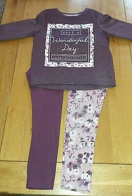 Girls age 6-7. Sweatshirt and leggings set.