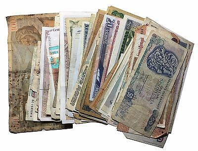 A Selection of approximately 100 World Banknotes