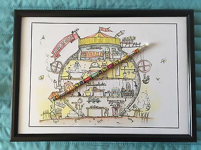 Marmite Mansion Print. A4 Framed. Ideal X-mas Present For Marmite Lovers.