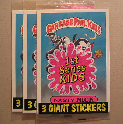 Garbage Pail Kids GIANT STICKERS One Pack Unopened Nasty Nick on the front