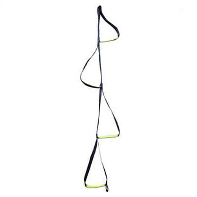 4-Step Etrier Webbing Ladder Hanging Rope for Climbing Caving Rescue Black
