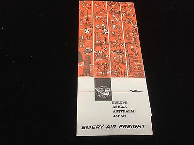 Vintage 1964 Emery Air Freight What is Air Freight Color Shipping Brochure