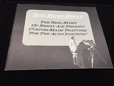 Vintage 1964 Emery Air Freight Auto-Mated Service Auto Industry Shipping Ad Book