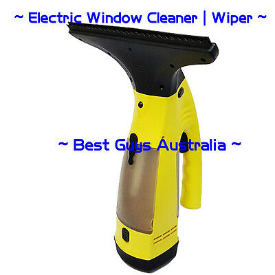 WV2 Plus Vac Cordless Rechargeable Glass Window Vacuum Cleaner Kit - AU Yellow