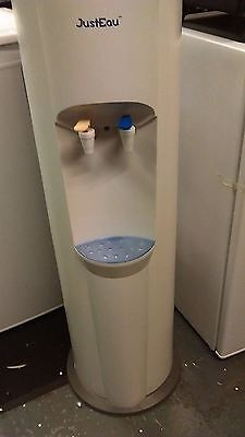 Floor Standing White Water Cooler Dispenser staff canteen hot & cold drinks W/Ak