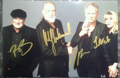 Genuine Hand Signed Fleetwood Mac Autograph.
