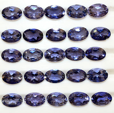 Natural lolite Oval Cut 6*4 mm 19.92 Cts 20 Pcs Lot Lustrous Stunning Gemstones