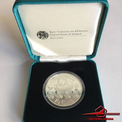 IRISH COMMEMMORATIVE SILVER COINS. 10€. ST. BRENDAN, 2011. With Box.