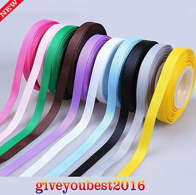 """100YDS Per Roll 3/8"""" Grosgrain Ribbon Hairbow Wedding Gift Packaging Decoration"""