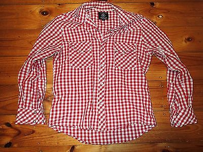 "Vintage/Retro ""Friends of Couture"" Red & White Check Shirt. Size S."
