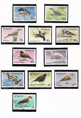 ST KITTS 1981 Birds Officials (Various) USED