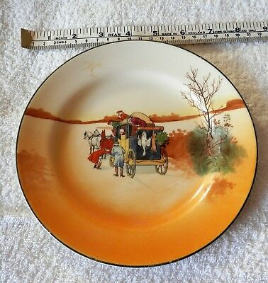 """ROYAL DOULTON - 7 1/2"""" Side Plate - Coaching Scene SERIES COLLECTABLE"""