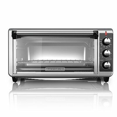 Extra Large Electric Convection Oven Pizza Toaster Countertop Stainless