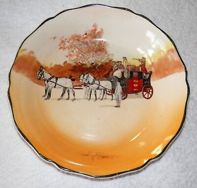 """ROYAL DOULTON - Coaching Days - Bowl - 7 1/2"""" Made in England COLLECTABLE"""