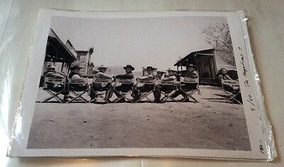 The Magnificent 7.  Vintage movie Glossy Black & White photograph Rare 5/50