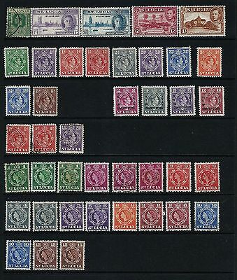 St Lucia Mint And Used On 2 Stock Page Sides