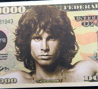Jim Morrison from The Doors FREE SHIPPING! Million-dollar novelty bill