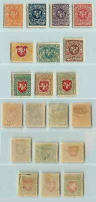 Lithuania, 1919, SC 40-49, mint or used. d2361