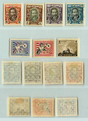 Lithuania, 1927, SC 226-232,  mint or used. rt8072