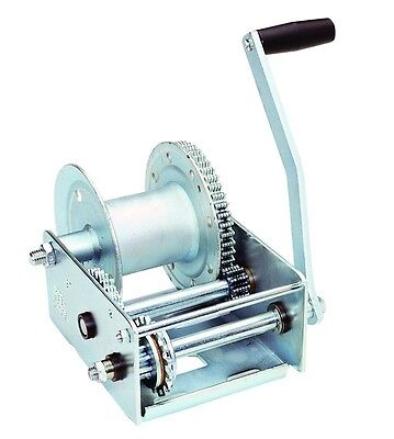 Hand Winch with Automatic Brake Boat Trailer Cable Crank Gear Manual 2500 Lbs