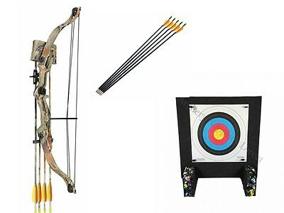 Kids Archery Set Beginner Complete Package with Target and Arrows - Camo