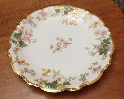 Antique Elite Bawo Dotter Limoges Charger Early 1900's