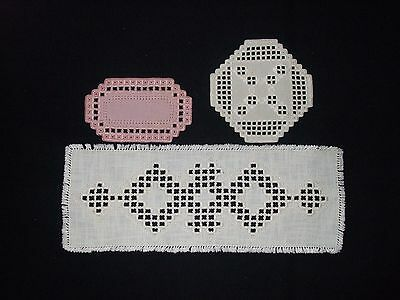 """Lot Of 3 Hardanger  Beautiful   Handcrafted-17.2"""";6.6"""";6.4"""""""