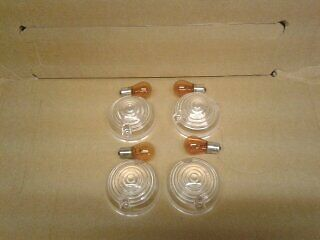 Landrover series 2a /3 and defender clear light indicator lenses/bulbs (new)