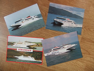 Seacat Scotland Isle of Man (used) Hoverspeed Great Britain Ferry Postcards